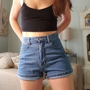 90s Vintage Super High Waisted Jean Shorts